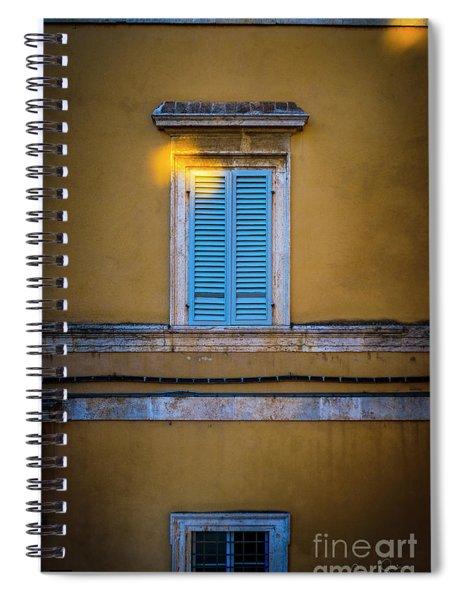 Blue Shutters Of Todi Spiral Notebook