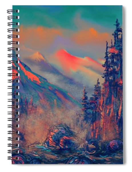 Blue Silence Spiral Notebook