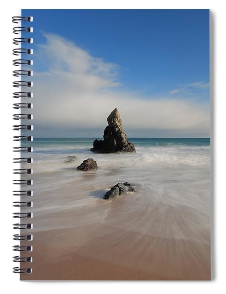 Blue Skies Above Sango Bay Spiral Notebook
