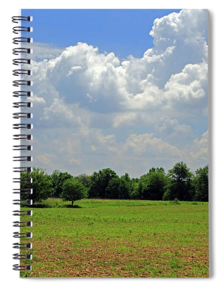 Blue Skies And Green Fields Spiral Notebook