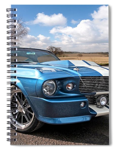 Blue Skies Cruising - 1967 Eleanor Mustang Spiral Notebook