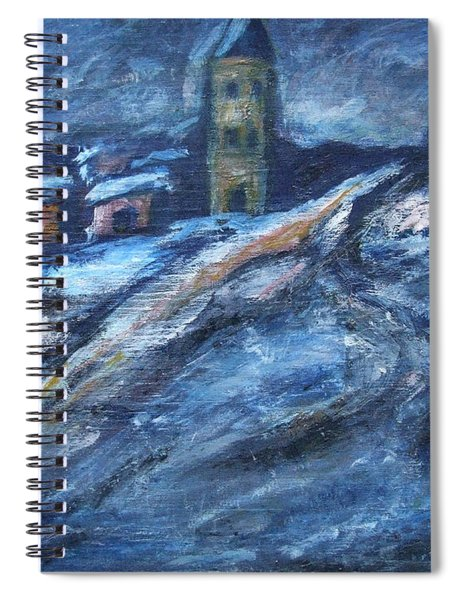 Blue Snow City Spiral Notebook