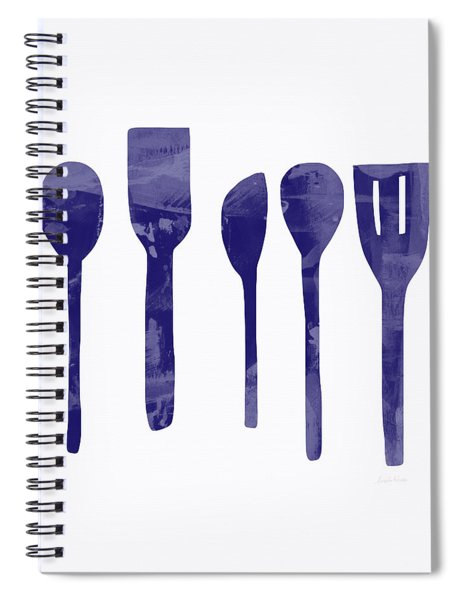 Blue Spoons- Art By Linda Woods Spiral Notebook