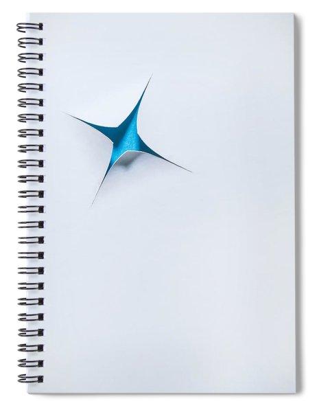 Blue Star On White Spiral Notebook