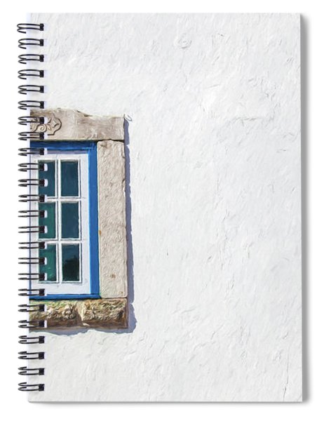 Blue Stone Window Of Obidos Spiral Notebook