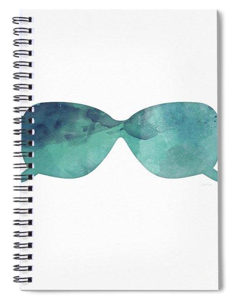 Blue Sunglasses 1- Art By Linda Woods Spiral Notebook