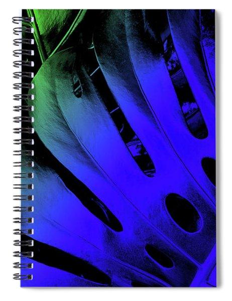 Blue Swiss Cheese Spiral Notebook