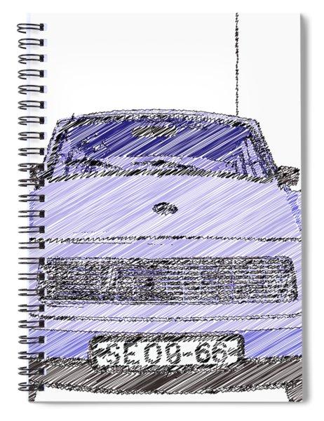 Blue Trabant Spiral Notebook
