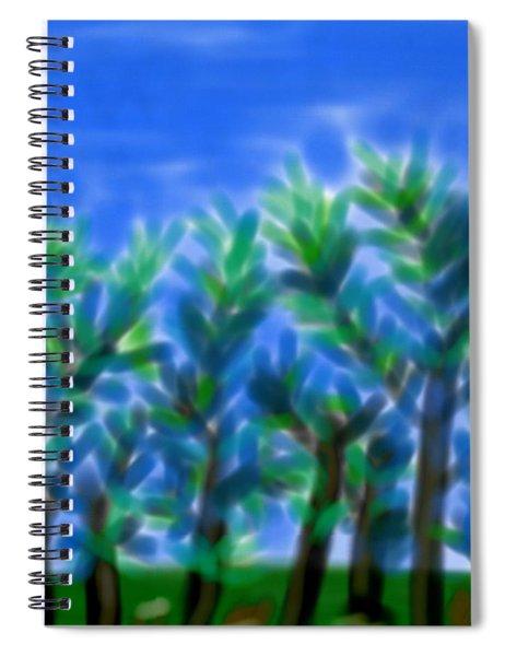 Blue Trees Express Spiral Notebook