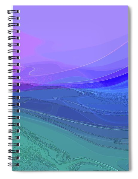 Spiral Notebook featuring the digital art Blue Valley by Gina Harrison