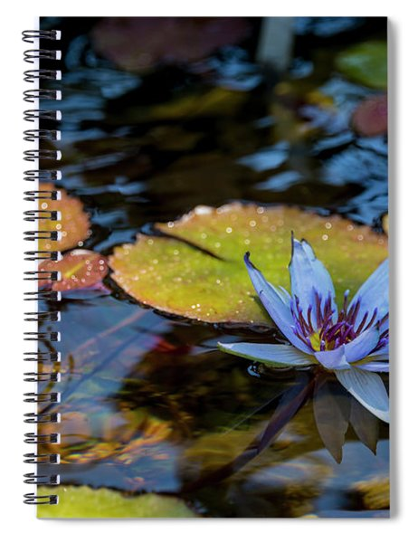 Blue Water Lily Pond Spiral Notebook