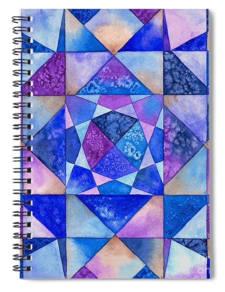 Blue Watercolor Quilt Spiral Notebook