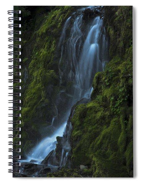 Blue Waterfall Spiral Notebook