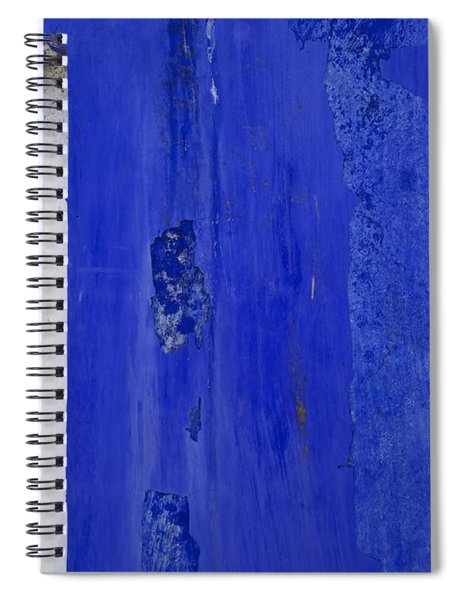 Blue Weathered Wall Of Old World Europe Spiral Notebook