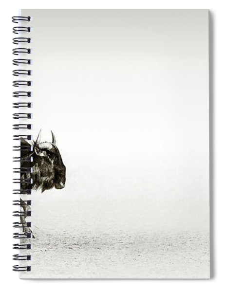 Blue Wildebeest In Desert Spiral Notebook