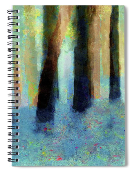 Bluebell Wood By V.kelly Spiral Notebook
