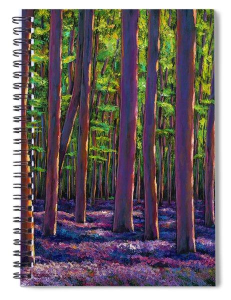 Bluebells And Forest Spiral Notebook