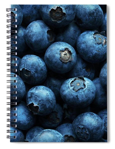 Blueberries Background Close-up Spiral Notebook