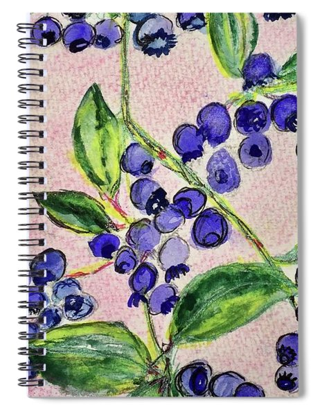 Blueberries Spiral Notebook