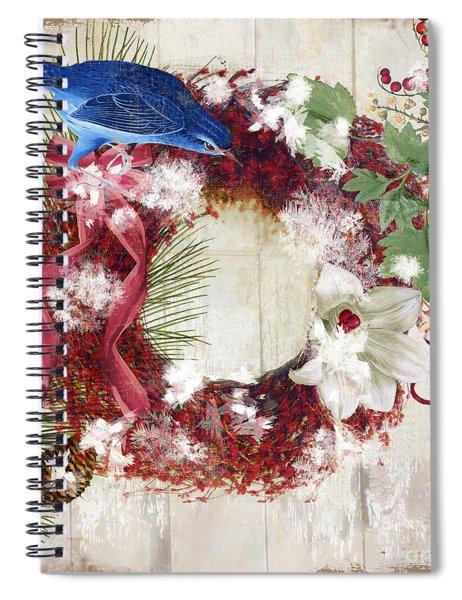 Bluebird Christmas I Spiral Notebook