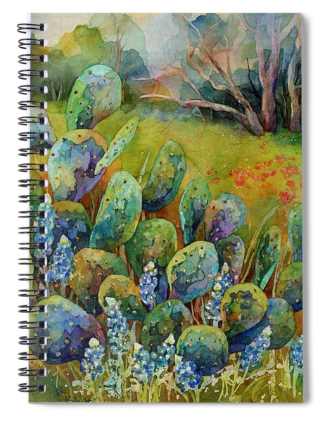 Bluebonnets And Cactus Spiral Notebook