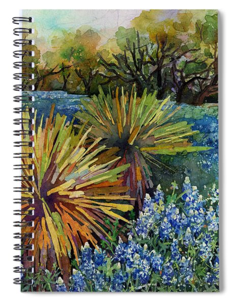 Bluebonnets And Yucca Spiral Notebook