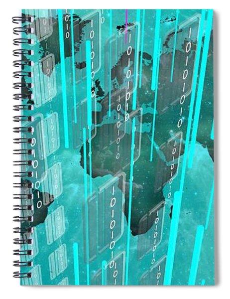 Bluish Future World Spiral Notebook