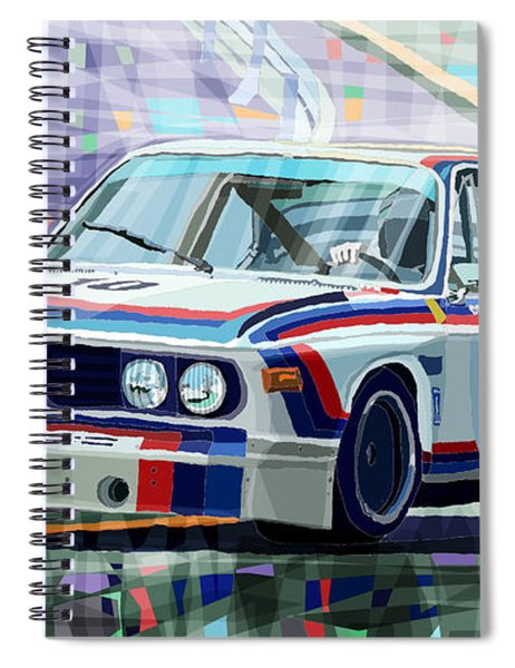 Bmw 3 0 Csl 1st Spa 24hrs 1973 Quester Hezemans Spiral Notebook