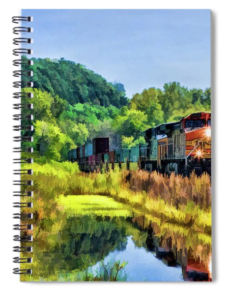 Bnsf Scenic Freight Train Spiral Notebook