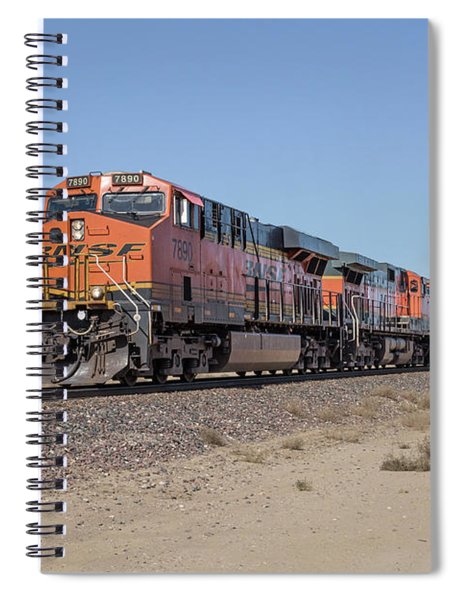 Spiral Notebook featuring the photograph Bnsf7890 by Jim Thompson