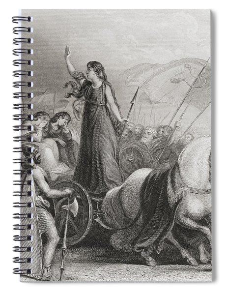 Boadicea Haranguing The Britons Spiral Notebook