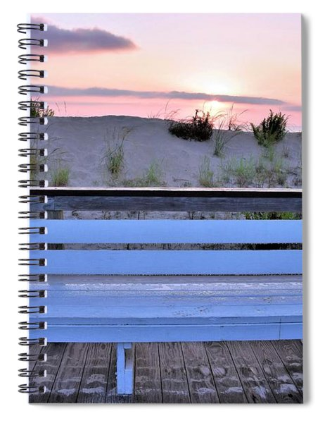 A Welcome Invitation -  The Boardwalk Bench Spiral Notebook