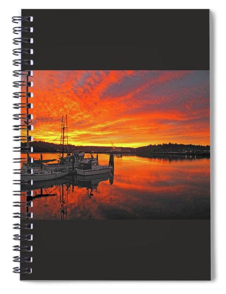 Boardwalk Brilliance With Fish Ring Spiral Notebook
