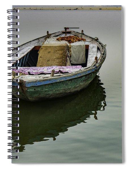 boat at Ganges Spiral Notebook