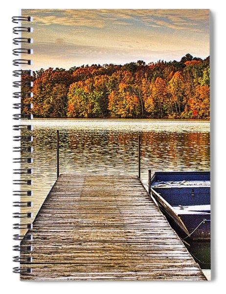 Boat Dock Le-aqua-na II Spiral Notebook