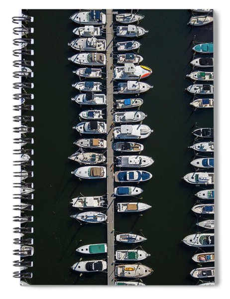 Boat Docks Aerial Photograph Spiral Notebook