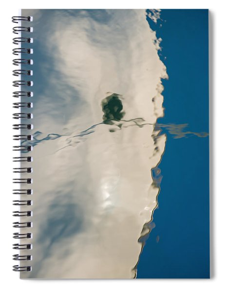 Boat Hull Reflection Spiral Notebook