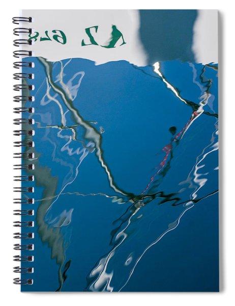 Boat Lines Spiral Notebook