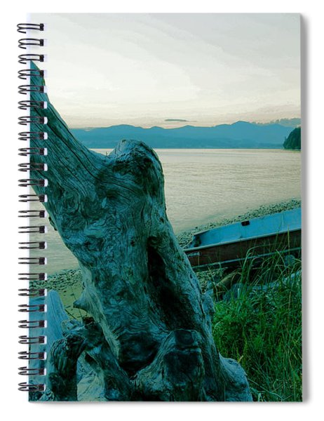 Boat On The Beach  Spiral Notebook