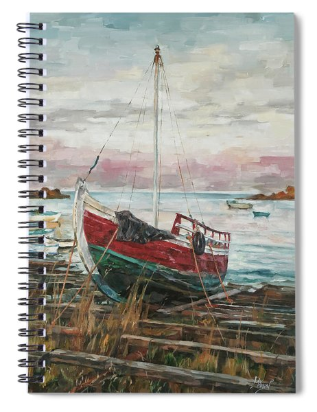 Boat On The Shore Spiral Notebook