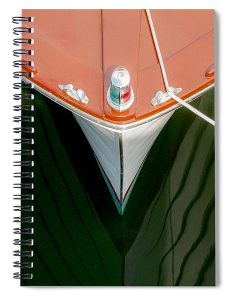 Vintage Boat Mirror Water Reflection Spiral Notebook