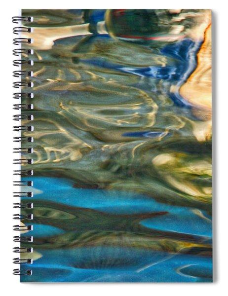 Boat Reflections - Hvar Croatia Spiral Notebook