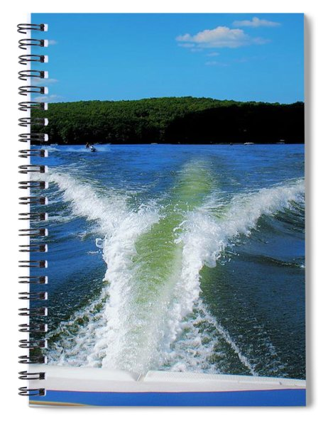 Spiral Notebook featuring the photograph Boat Wake by Patti Whitten