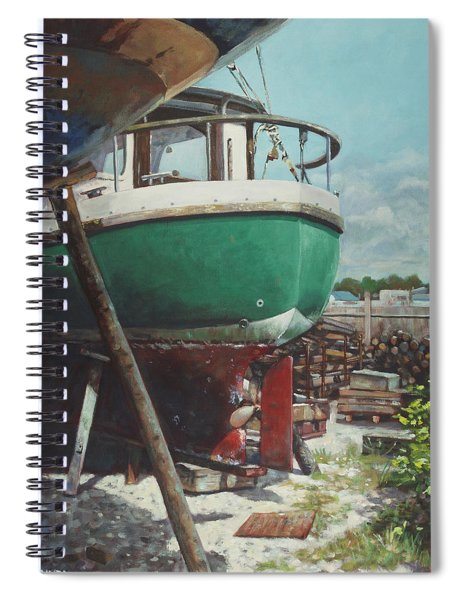 Boat Yard Boat 01 Spiral Notebook