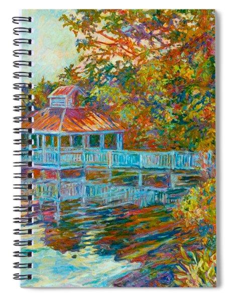 Boathouse At Mountain Lake Spiral Notebook