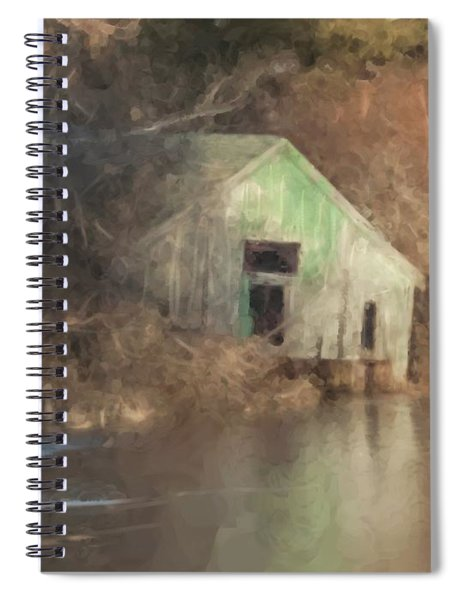 Boathouse On Solstice Spiral Notebook