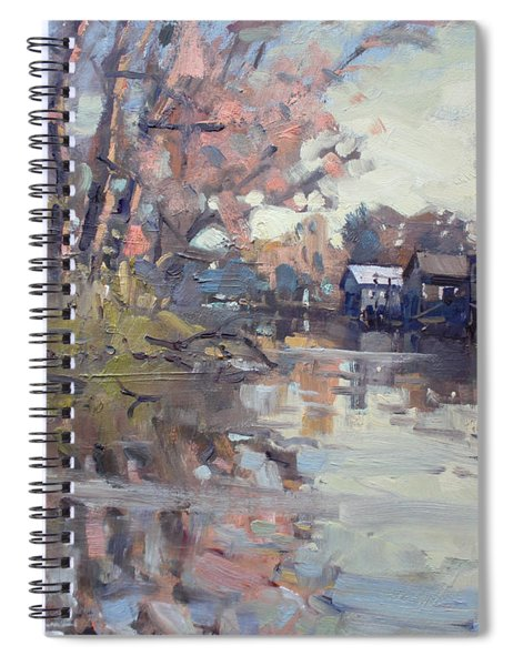 Boathouses At Eastern Park And Kayak Launch  Spiral Notebook