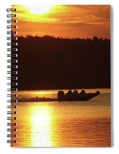 Boating At Deer Creek Spiral Notebook