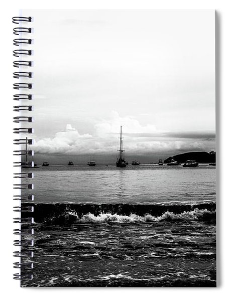 Boats And Clouds Spiral Notebook
