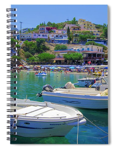 Boats In Bali Spiral Notebook